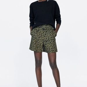 ZARA ANIMAL PRINT SHORTS NWT